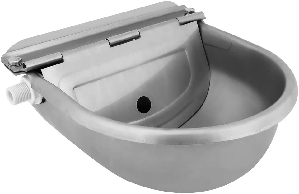 Automatic Drinking Bowl 4L OFFicial mail order Save money Capacity Water Stainless Steel Troug