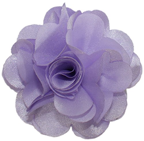 Ted and Jack - Solid Silky Classic Flower Lapel Pin Boutonniere in Lavendar