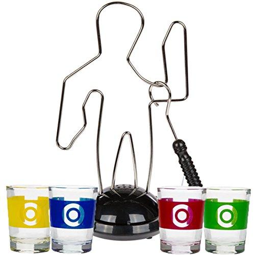 Bada Bing Trinkspiele Partyspiel Der heiße Draht Hot Wire inkl. Vier Gläschen
