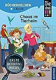 Die drei !!!, Bücherhelden 2. Klasse, Chaos im Tierheim: Erste Detektivrätsel, Erstleser Kinder ab 7 Jahre
