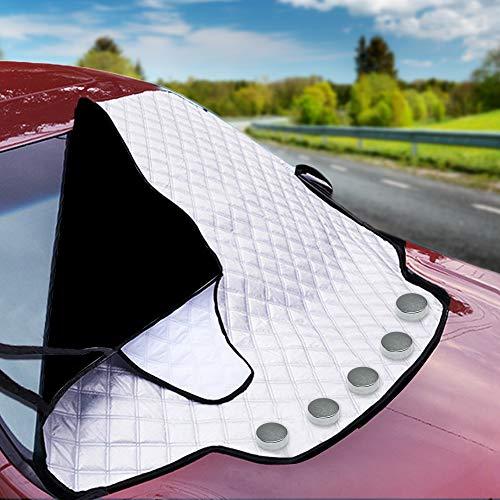 Magnetische Auto Windschutzscheibe Sonnenschutz, Frontscheiben Abdeckung für alle Jahreszeiten - Sommer Sonne Winter Schnee Frost Eisschutz - Passend für alle Standardfahrzeuge