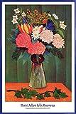 1art1 Henri Rousseau Poster et Cadre (Plastique) - Bouquet De Fleurs À La Branche De Lierre, 1909 (91 x 61cm)
