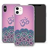 Handyhülle Om für iPhone Apple Silikon MMM Berlin Hülle Flower Esoterik Shiva Goa Mandala Yin Yoga, Kompatibel mit Handy:Apple iPhone 11 Pro, Hüllendesign:Design 4 | Silikon Klar