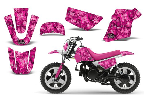 Butterfly-AMRRACING MX Graphics decal kit fits Yamaha PW50 All years-Pink-Pink-BG