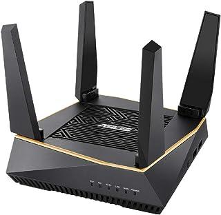ASUS WiFi 無線 ルーター WiFi6 4804+867+400Mbpsトライバンド RT-AX92U 【 メッシュ機能付 】【3階建 / 4LDK 】【PS5/Nintendo Switch/iPhone/android 対応】