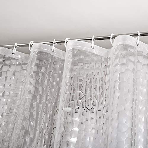 WELTRXE Heavy Duty EVA Shower Curtain Liner with Magnets...