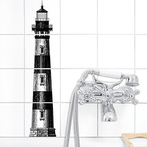 Boubouki - Wasserabweisende Fliesenaufkleber für Bad und Küche - Fliesen-Aufkleber, Kacheln in allen gängigen Größen - Lighthouse Poster - 15x15cm, Transparent