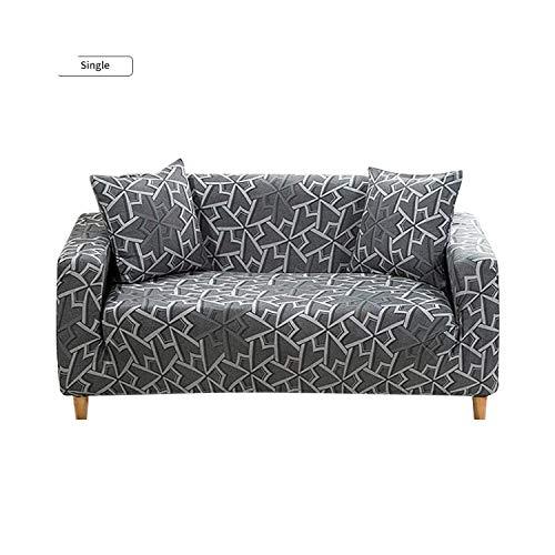 Funda de sofá universal de la cubierta del sofá de estilo geométrico elástico para la sala de estar en forma de L sofá elástico muebles fundas, multicolor, 2-seater 145-185cm
