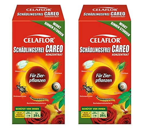 CELAFLOR Schädlingsfrei CAREO Konzentrat für Zierpflanzen 500 ml - Mittel gegen beißende & saugende Schädlinge