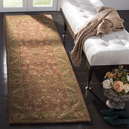 Safavieh Golden Jaipur Collection GJ250E Handmade Rust and Green Premium Wool Runner (2'3