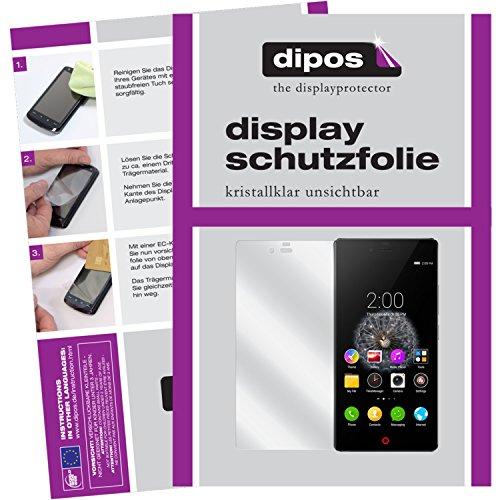 dipos I 6X Schutzfolie klar kompatibel mit ZTE Nubia Z9 Mini Folie Bildschirmschutzfolie (3X Vorder- und 3X Rückseite)