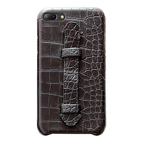 Suhctup Coque Compatible pour iPhone 7 Plus Rétro PU Cuir Cover Housse avec Fonction de Support [ 3D Emboss Crocodile Motif Texture Leather ] Ultra Fine Anti Choc Back Cover(Noir)
