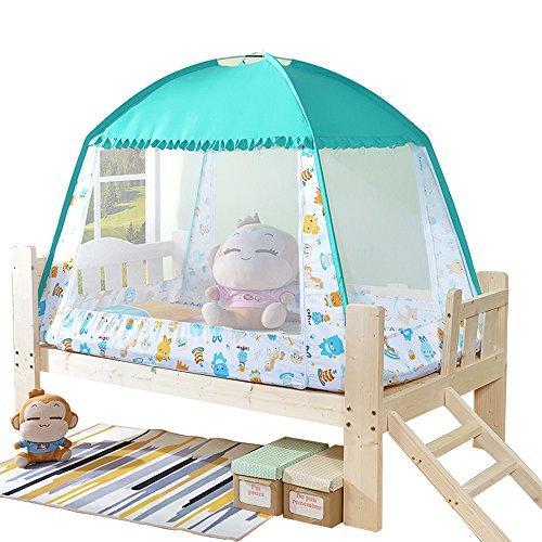 Kinder Moskitonetz Yurten Netze Moskitonetz Bettschutzzelt Faltbares Babybett Kinderzelt Kostenlose Installation Bett Reißverschluss Anti Mückenstiche (1 Tür)