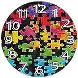 WYDSFWL Reloj de Pared Reloj de PVC Consciente del Autismo Reloj Reloj de Pared Circular Decorativo
