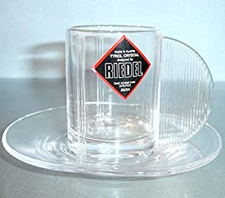 Riedel Espresso Cup & Saucer Crystal Art Deco Style New