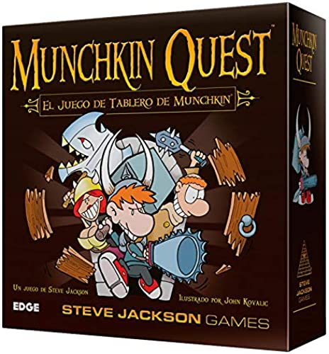 marca de lujo Asmodee - Munchkin Munchkin Munchkin Quest, Juego de Mesa (Edge Entertainment EDGMQ01)  se descuenta