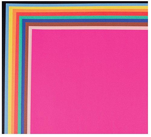 School Smart Railroad Board, 6-Ply, 22 x 28 Inches, Assorted Colors, 25 Boards