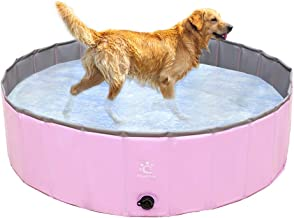 PAWCHIE Dog Swimming Pool Collapsible Pet Pool Bathing Tub Pool Bat Tub for Small to Large Dogs, Cats, Children