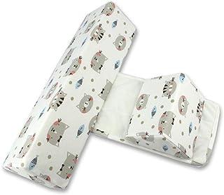 Hahepo Almohada lateral para bebé, ajustable, cojín para dormir de bebé, cojín para dormir para bebé, cojín para dormir de cabeza plana, triángulo para bebés
