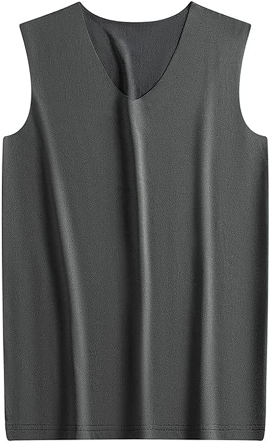 GYZCZX Men Winter Thermal Underwear Tops Body Sleeveless Vest Invisible Thermo Warmer Wear Outside and Wear Inside (Color : B, Size : XL Code)
