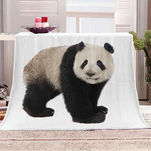 LIGAHUI Manta De Franela Panda Manta de Forro Polar,Mantas para Cama para Niños,Manta De Lana,Manta De Mantón Suave Manta De Viaje 180x200 cm