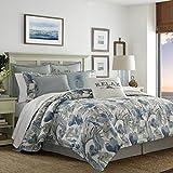 Tommy Bahama 221193 Raw Coast Comforter Set, King 4 Piece, Blue