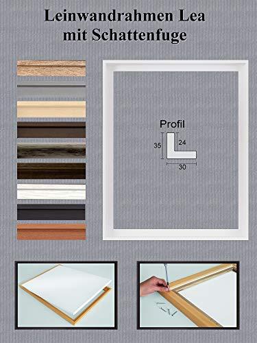 Lea MDF-Leinwandrahmen mit Schattenfuge 50 x 60 cm Größe frei wählbar erhältlich in 10 Farben Hier Weiß matt