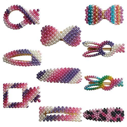 Sanwood Faux perle en épingle à cheveux, pince à cheveux barrette femmes filles cadeau 1#