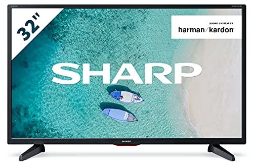 SHARP 32CB6E LED TV 81 cm (32 Zoll) HD Ready Fernseher (Harman Kardon, 50/60 Hz, HD Tuner) [Modelljahr 2021]