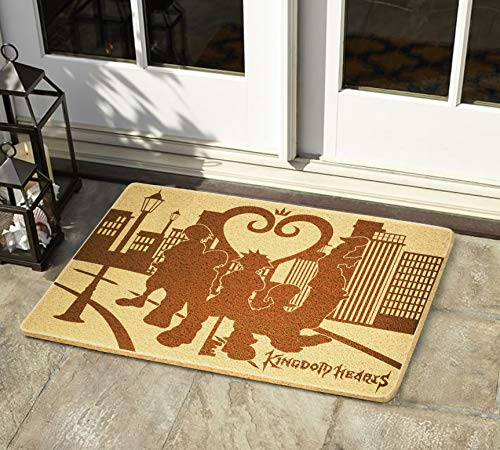 Gifts and Crafts Store Kingdom Hearts 24x16 inch Doormat for Shoes Inside Outside Rubber Porch Mat Housewarming Birthday Holiday Congratulation Gift for Men Women Best Friend Neighbors Gamer
