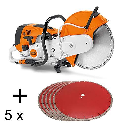 Stihl TS 800 Trennschleifer incl 5 Stück Power Cut Diamantscheiben