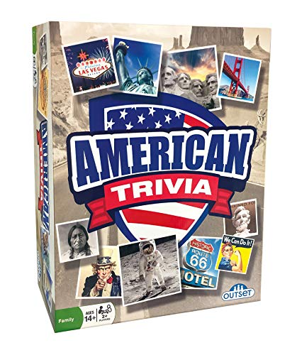 American Trivia Game (Amazon Exclusive) – 5 Categories to Choose from and 1,000 Questions – for Ages 14 and up by Outset Media