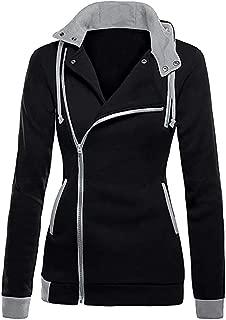 Amiley Women Fall Hoodies,Women Fashion Side Full Zip Hoodie Tops Hooded Sweatshirt Outwear Jacket Coat