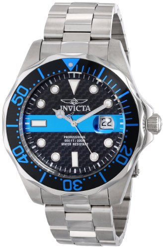 Invicta Men's 14702 Pro Diver Analog Display Swiss Quartz Silver Watch