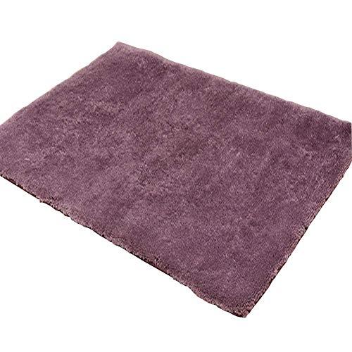 L.TSA Home Carpet Rutschfester Warmer rechteckiger Couchtisch Schlafzimmer Seidenteppich Modernes minimalistisches Wohnzimmer (Dicke 4 MM) Entspannen Sie Sich, müder Körper, grauviolett, 160 * 250 cm
