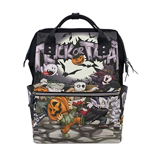 NHJYU Hlloween Cute Emotion Travel Mochila Large Nappy Bolsa de pañales Laptop Mochilas for Women Men
