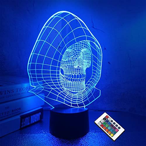 Ilusión óptica 3D Lámpara cráneo