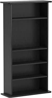 Atlantic Drawbridge Media Storage Cabinet - Store & Organize A Mix of Media 240Cds, 108DVDs Or 132 Blue-Ray/Video Games,