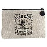 Diver Bebé Monedero frase perro raza American Bully Bad dog as bad as I wanna be - Beige, 15 x 10 cm