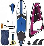 Stand-Up Paddleboarding, Windsurf Inflable Sup Paddle Board Sup Barricada Tabla de Surf Kayak Surf septiembre 12'6 7'-Vivienda, Bomba, Kit de reparación Ideal para el Yoga, Crucero, Pesca