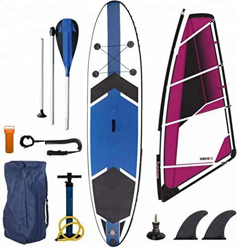 Stand-Up Paddleboarding, aufblasbare Windsurf SUP Stand Up Paddle Board Sup-Brett Surfbrett Kayak Surf Set 7'-12'6 mit Tragetasche, Pumpe, Reparatursatz ideal für Yoga, Cruising, Angeln