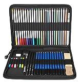 Lápices para colorear con bolsa de nailon, no fáciles de romper y desvanecer para artistas y pintores principiantes para personas de todos los niveles de dibujo