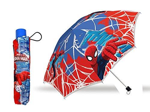 Spiderman Marvel Regenschirm faltbar mit Schutztasche Kinderschirm 55cm