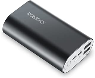 ROMOSS Portable Charger Lightning, 10000mAh Power Bank Lightning & Micro USB Dual Input, 2.1A Smart Dual Output Portable C...