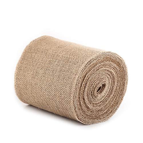 Delaman jute lint 10M natuurlijke Hessian Jute Roll jute stof geschenkverpakking lint tafelloper