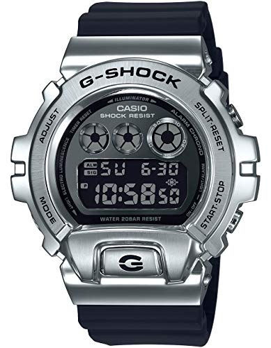 Men's Casio G-Shock 25th Anniversary Limited Edition Digital Stainless Steel and Black Resin Strap...