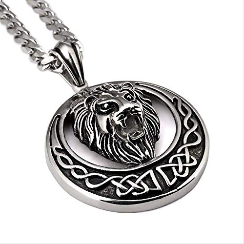 High Quality Metal Gold Plated Hip Hop Necklace Lion Punk Pendant Chain Jewelry