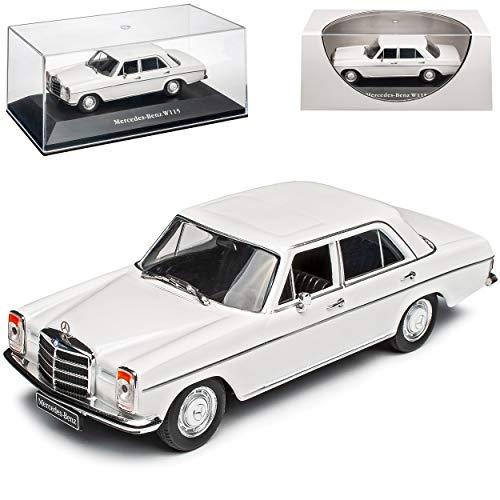Mercedes-Benz 200 /8 Strich Acht Limousine Weiss W114 W115 1967-1976 1/43 Ixo Modell Auto