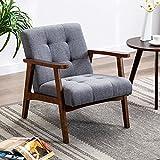 Altrobene Mid-Century Modern Chair Retro Accent Chair Tufted Lounge Chair Reading Club...