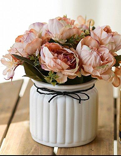 Simulation Usine Bonsaï Fleur Artificielle Maison Salon Table Basse Bureau en Pot Fleur Ornements Décor Ornements,L